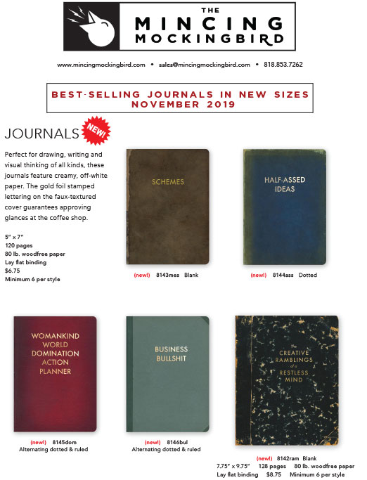 New Journal Sizes